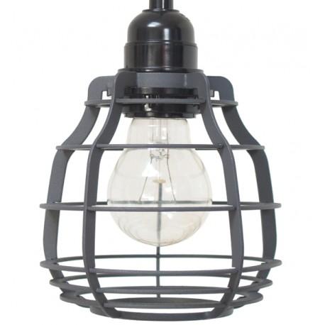 Szara, matowa lampa z włącznikiem LAB - HK Living