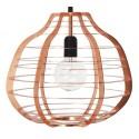 Miedziana lampa wisząca LAB XL - HK Living