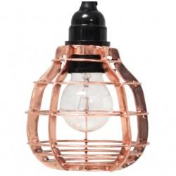 Miedziana lampa LAB z włącznikiem - HK Living
