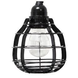 Czarna lampa wisząca LAB