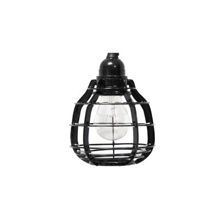 Czarna lampa z włącznikiem LAB - HK Living