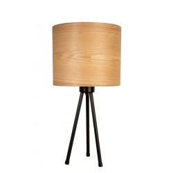 Woodland - stołowa lampka z drewna naturalnego