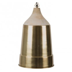 Mosiężna lampa wisząca WOOD TOP - Dutchbone