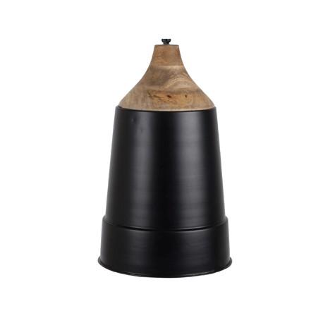Czarna lampa wisząca Wood Top - Dutchbone
