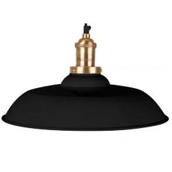Czarna lampa wisząca CORE z mosiężnym zdobieniem