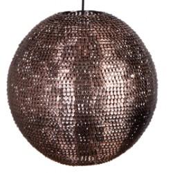Miedziana lampa wisząca Cooper 40 cm