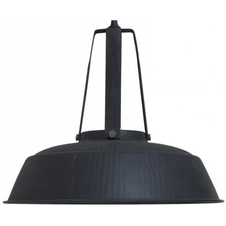 Rustykalna lampa wisząca Workshop L (czarna, matowa) - HK Living