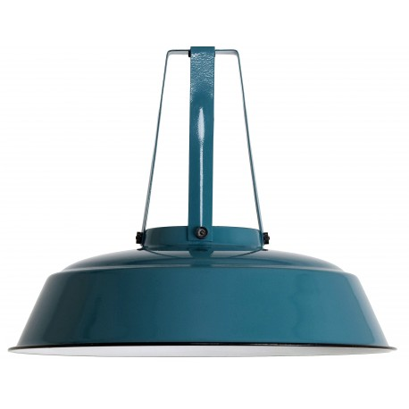 Niebieska lampa przemysłowa Workshop L - HK Living