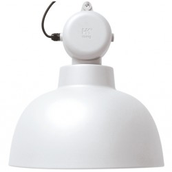 Biała lampa fabryczna Factory L - HK Living