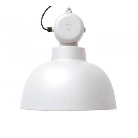 Biała lampa przemysłowa Factory M mat - HK Livinig