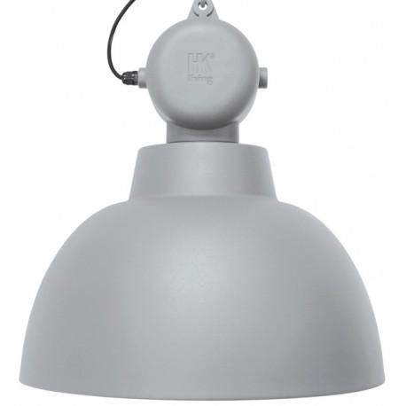 Szara lampa przemysłowa Factory L, mat - HK Living