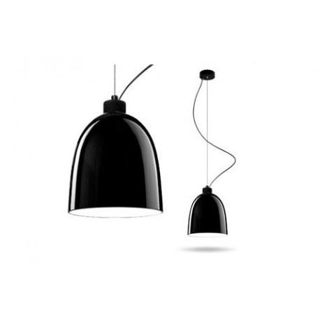 Kruczoczarna lampa AWA – połysk – Sotto Luce