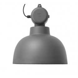Szara lampa industrialna Factory M, mat - HK Living
