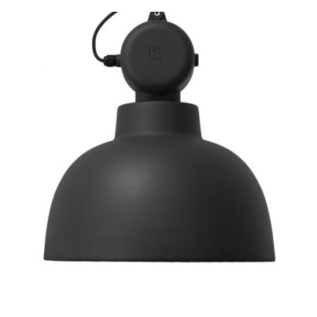 Czarna lampa wisząca Factory M, mat - HK Living