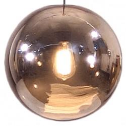 Miedziana lampa szklana Kula - HK Living
