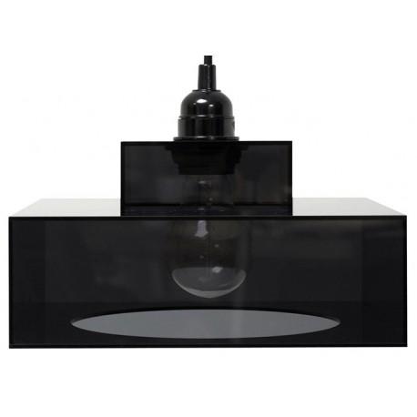 Lampa wisząca Plexi Lounge, czarna - HK Living