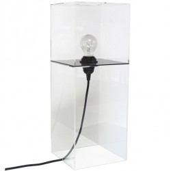 Nowoczesna lampa stołowa Plexi - HK Living