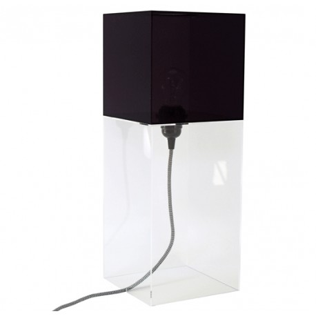 Czarna lampa stołowa PLEXI - HK Living