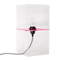 Różowa lampa stołowa Plexi M - HK Living