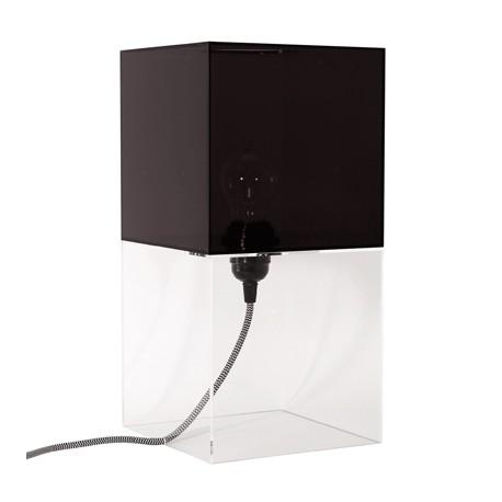 Czarna lampa stołowa Plexi M -HK Living