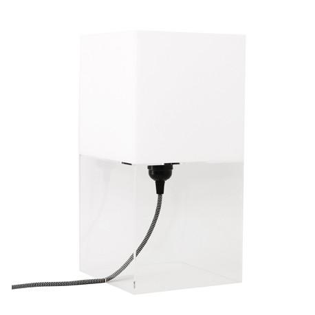Biała lampa stołowa M Plexi - HK Living