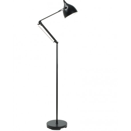 Czarna lampa podłogowa Reader - Zuiver