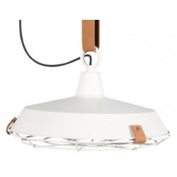 Delikatna lampa industrialna DEK 40 biała - Zuiver