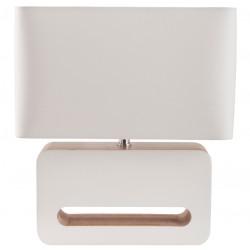Biała lampa stołowa WOOD - ZUIVER