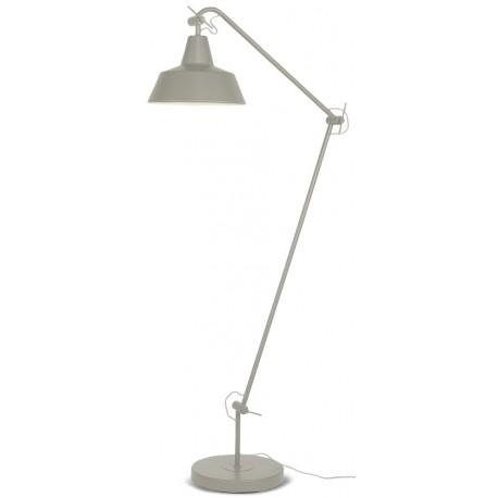 Solidna lampa stojąca CHICAGO w kolorze szarym.