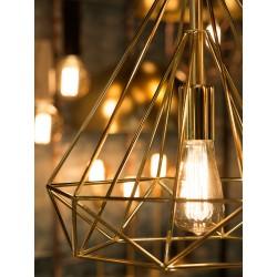 Złota lampa wisząca ANTWERP - It's About RoMi