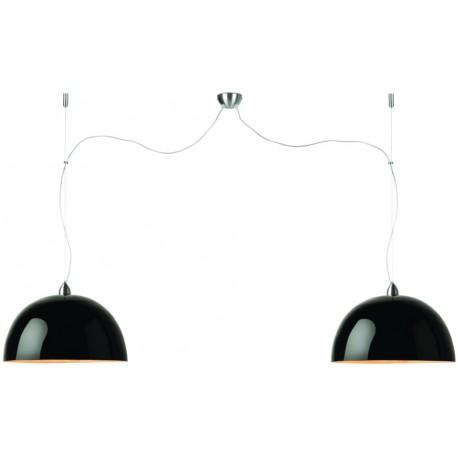 Czarna lampa bambusowa Halong (2-abażurowa) - It's About RoMi