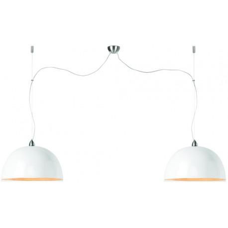Biała lampa bambusowa z dwoma abażurami HALONG - It's About RoMi
