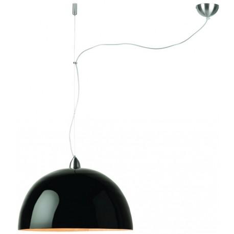 Czarna lampa wisząca HALONG z jednym abażurem - It's About RoMi