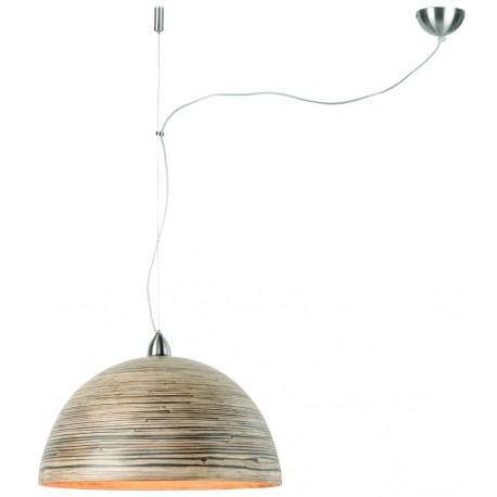 Bambusowa lampa wisząca HALONG (1-abażur), ciemny naturalny - It's About RoMi