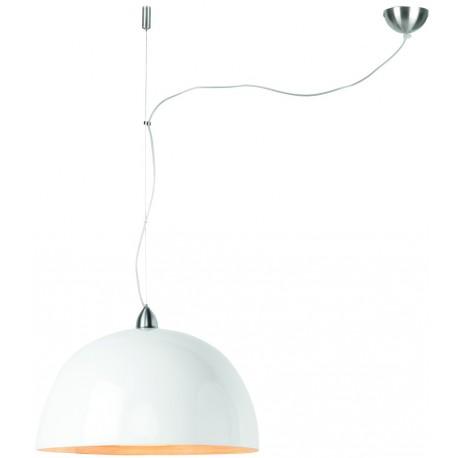 Bambusowa lampa wisząca HALONG biała, 1-abażurowa - It's About RoMi