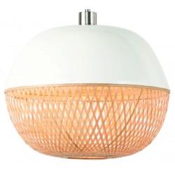 Okrągła lampa wisząca MEKONG (biały/naturalny) - It's About RoMi