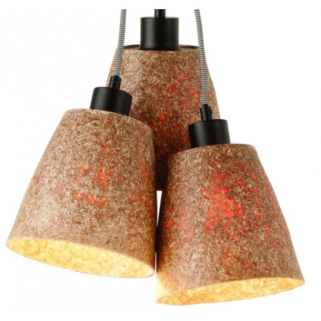 Lampa z drewna sekwoi SEQUOIA (3-abażury) - It's About RoMi