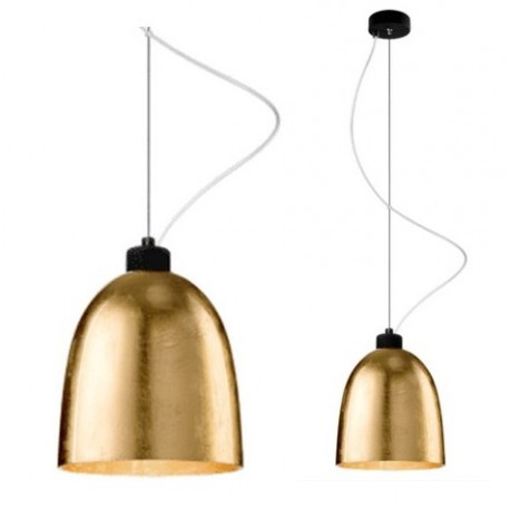 Złota lampa wisząca AWA – HK Living