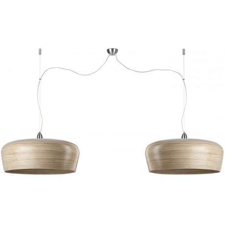 Naturalna lub biała lampa wisząca Hanoi (2 abażury) - It's About RoMi