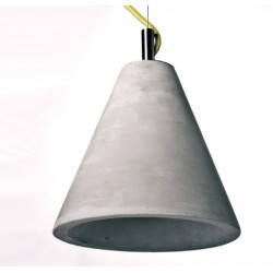 Nowoczesna lampa wisząca z betonu