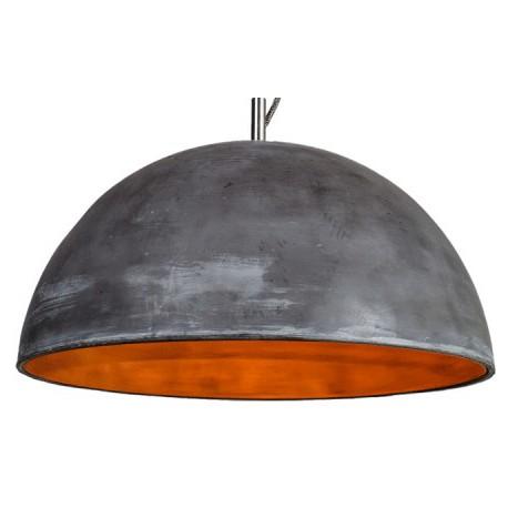 Unikatowa lampa betonowa L z miedzianym wnętrzem