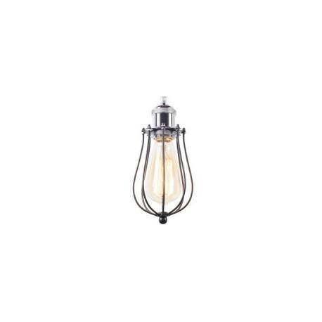 Ażurowa lampa metalowa o obłym kształcie