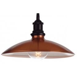 Metalowa lampa industrialna w kolorze miedzianym