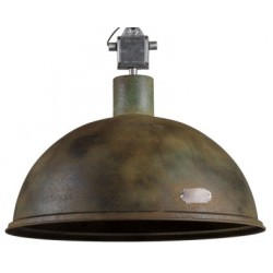 Duża lampa industrialna L - rusty green