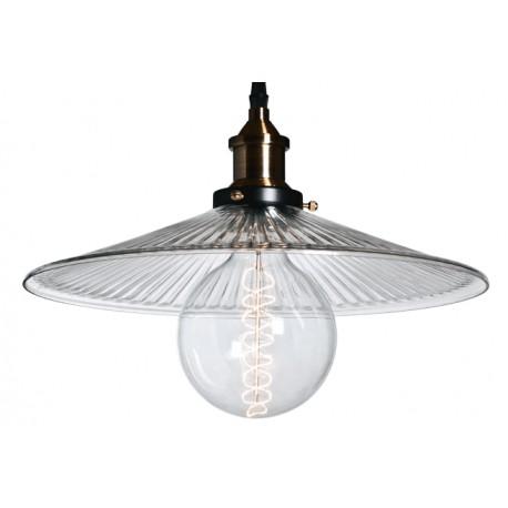 Lampa industrialna ze szkła trawionego