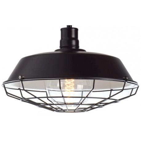 Metalowa lampa industrialna o mocno przemysłowym designie