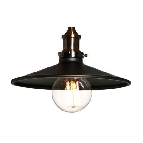 Oryginalna lampa industrialna z metalu i mosiądzu
