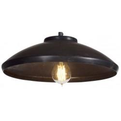 Rdzawa lampa przemysłowa - black