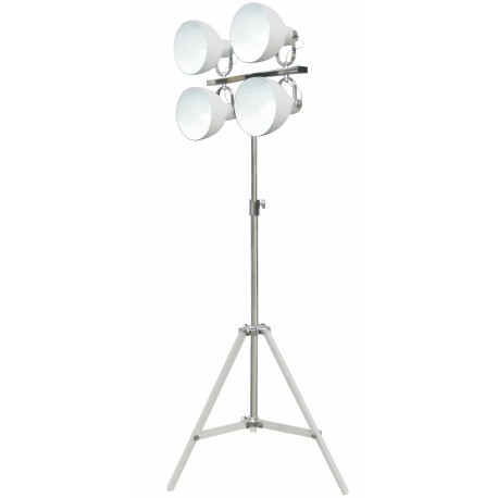 Biała lampa podłogowa - reflektor