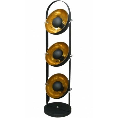 Nowoczesna lampa - reflektor (czarno-złota)